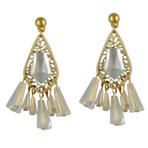 E-3740 New Arrival Fashion Drop Earring Clear Crystal Tassel Earrings For Women Jewelry