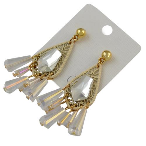 E-3740 New Arrival Fashion Drop Earring Clear Crystal Tassel Earrings For Women Jewelry