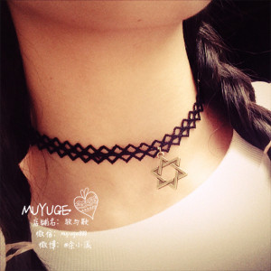 N-6152 Korea fashion sexy lace chain choker necklace for women jewelry