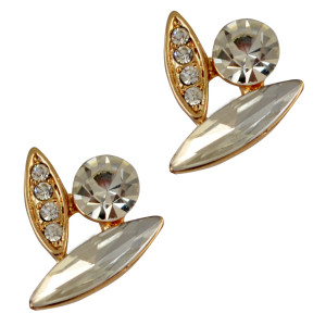 E-3738 Korea fashion gold plated crystal rhinestone stud earring for women jewelry