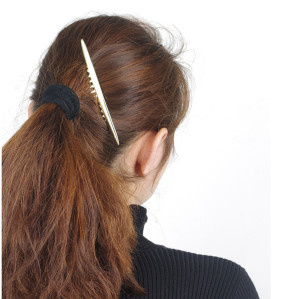 F-0317 Korea Fashion Style Gold Plated Fauxl Hairpin