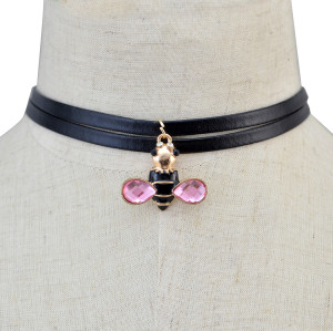 N-6157  3style Black Leather Cord Choker Charm Retro gold Tibetan pendant necklace