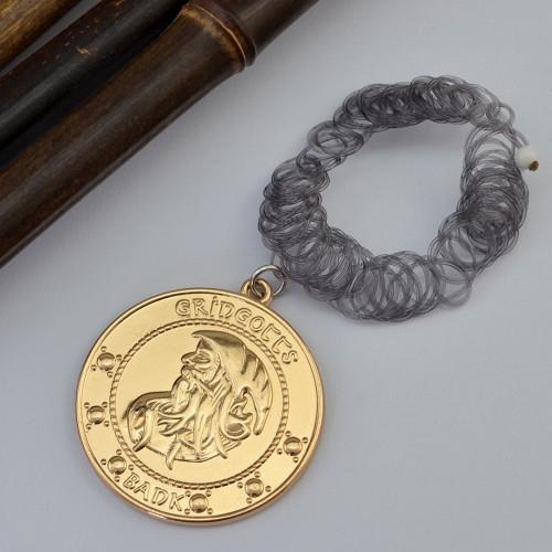 N-6181  harry potter Fashion spiral acrylic chain Gringotts bank coins magic necklace