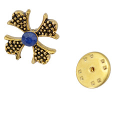 P-0316 Fashion Brooches Charm Rhinestones Silver/Gold  Plated Sailing/Cross Brooch Buckle For Women Men Accessories