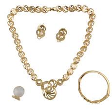 N-6204 Fashion Punk Style Gold Plated Crystal  Choker Neckalce Jewelry Set