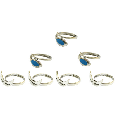 R-1351  7 Pcs/set Fashion Vintage Knuckle Nail Midi Ring Set Hollow Rhinestone Love Christmas Gift