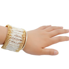 B-0715 Fashion Punk Metal Cuff Bangles Bracelets Wide Bangle Jewelry