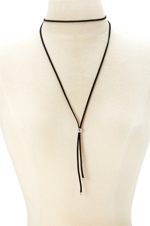 N-6240 European Fashion Simple Brown Long Leather Chain Pendant Necklace Jewelry