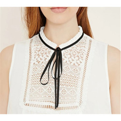 N-6244 Fashion Collar Black Leather Rope Chain Triangle Pendant Choker Necklace Women Jewelry