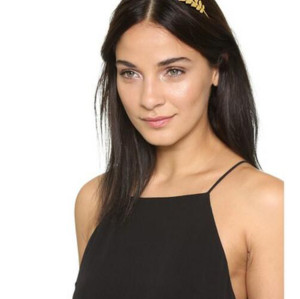 F-0330 Fashion Gold Plated Headbands Charm Leaf Shape Hair Jewelry