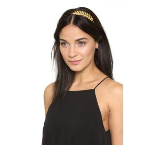F-0330 Fashion Gold Plated Headbands Charm Leaf Shape Hair Jewelry