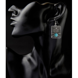 E-3798 Vintage Silver Gold Plated Earrings for Women New Charming Ethnic Jewelry Dangle Earrings