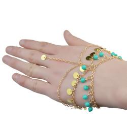B-0739 Bohemian Vintage Style 6 Styles  bracelet  alloy chain turquoise beads bangle bracelet jewelrey