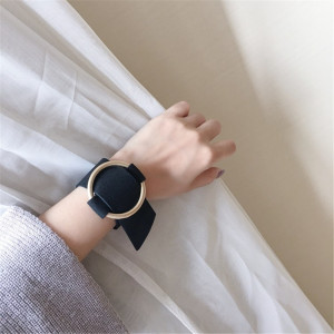 B-0736 Fashion Personality Black Wide Leather Gold  Bracelet with Adjustable Golden Circle