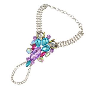 B-0738 Bohemian Gypsy Antalya Charm Crystal Rhinestone Flower Beads Turkish Sinaya  Beachy Bracelets For Women Jewelry