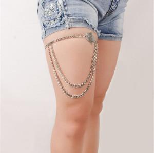 B-0733 Bohemian Vintage Silver Multilayer Charms Anklet Bracelets Women Foot Jewelry