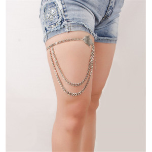 B-0733 Bohemian Vintage Silver Multilayer Charms Anklet Bracelets Women Foot Jewelry