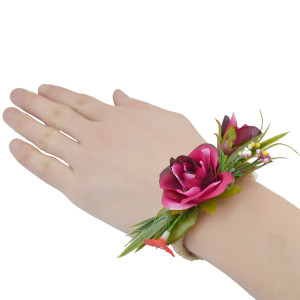 B-0745   New Design Elegant Handmade Weave Rope Bracelet Adjustable Beautiful Flower Leaf Wide Cuff Bracelets For Women Jewelry
