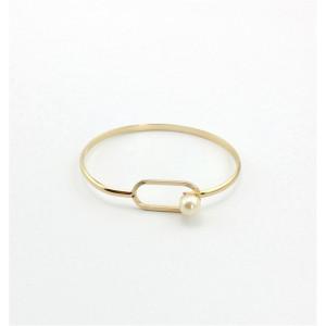 B-0742   Fashion Style Bohemia gold plated Simple button rhinestone Bracelet & bangle