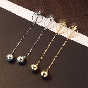 E-3815 Elegant Women Fashion Earring Jewelry Tassel Long Earrings Crystal Rhinestone Gift For Women