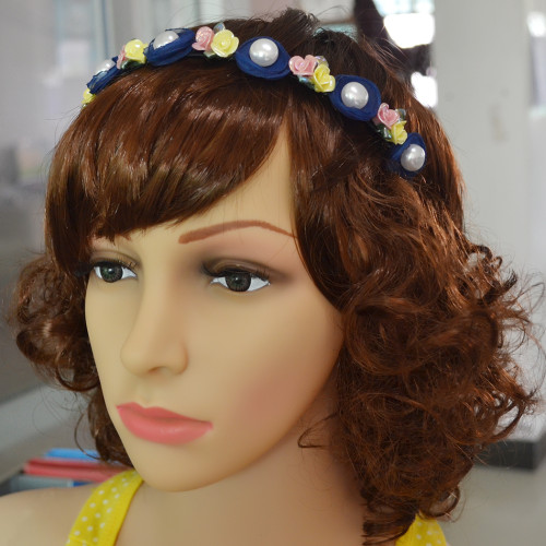F-0336 Fashion Resin Flower Shape and Synthetic Peal  Hot Selling for Women Sexy Headware for Party