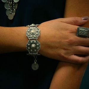B-0489 European Vintage Style Alloy Silver Plated Fashion Bracelet Bangle