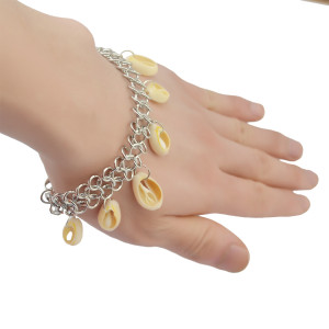 B-0759 Bohemian Korea fashion style Silver plated Bangle shell tassel Bracelet for women jewelry