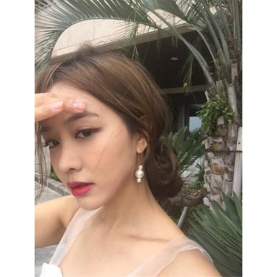 E-3827 Bohemian Tibetan Silver Plated Pearl  Pendant Tassel Drop Dangle  Beaded Earring