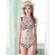 N-6327 Elegant Summer Beach  Charm Chain Sexy Body Chain Resin  Big  Flower  Rhinestone Necklace Women Body Jewelry