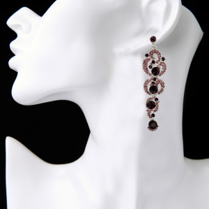E-3837 Bohemian Fahsion 5Colors Dangle Earring Crystal Rhinestone Luxry Weeding earring for women