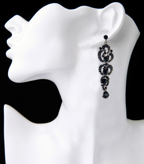E-3837 Bohemian Fahsion 5Colors Dangle Earring Crystal Rhinestone Luxry Weeding earring for women