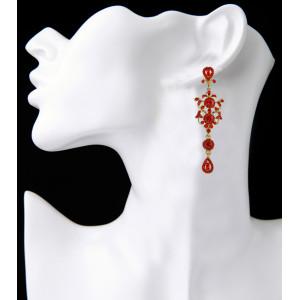 E-3861 Bohemian Fahsion 4 Colors Dangle Earring Crystal Rhinestone Luxry Weeding Earring for Women