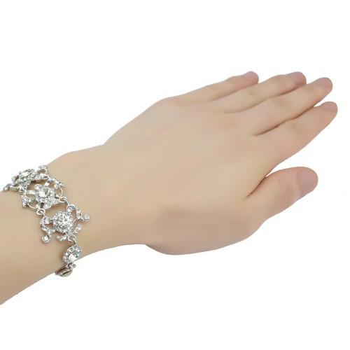 B-0774 Bohemian Fahsion Gold Chain Bracelet Charm Crystal Rhinestone Bracelet for Women Jewelry