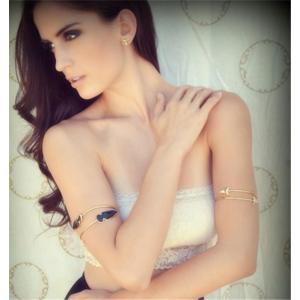 B-0780 Bohemian Fahsion Silver Gold Arm chain Arrow  leaf arm bracelets & bangles for Women Jewelry
