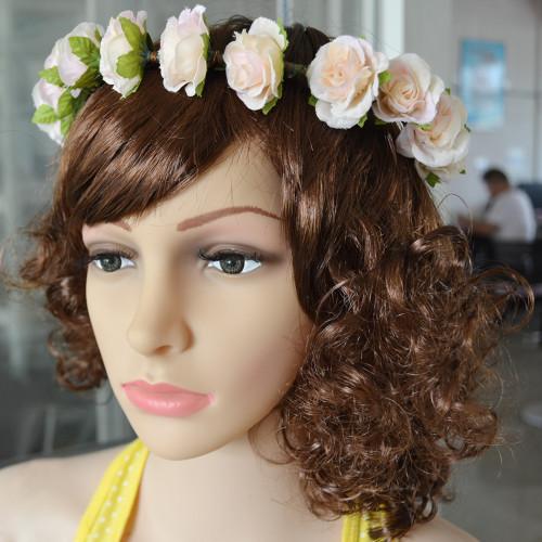 F-0349 Bohemian Style Fashion Wedding Hairband Charms Flower Resin Beads Charm Hair Bridal Accessory Jewelry