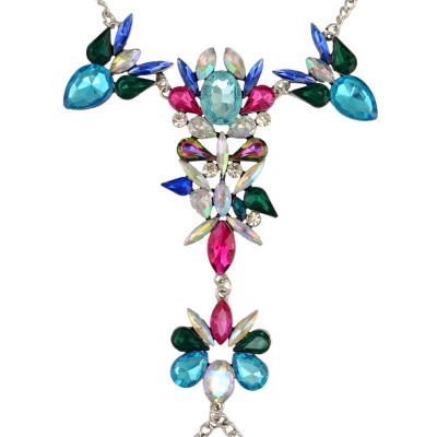 B-0785 Bohemian Fashion style Women Summer Beach Boho Charm Crystal Rhinestone Flower Beads Beachy Anklet & bracelet Jewelry for women