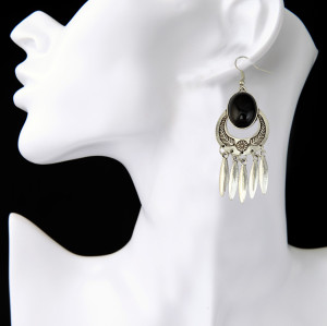 E-3853 Bohemian Antique Silver Gold plated Fashion Earring Bead Dangle Earrings For Women Jewelry
