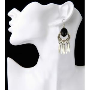 E-3853 Bohemian Antique Silver Gold plated Fashion Earring Bead Dangle Earrings For Women Jewelry