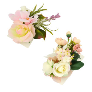 P-0332 2 Colors Fabric Flower Leaf Pectoral Brooch Pins Corsage Hairpin Barrettes Dual Use Brooches For Women Jewelry