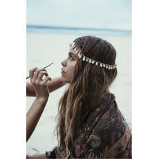 F-0353 European style silver plated head chain shell tassels headwear hair jewelry for women