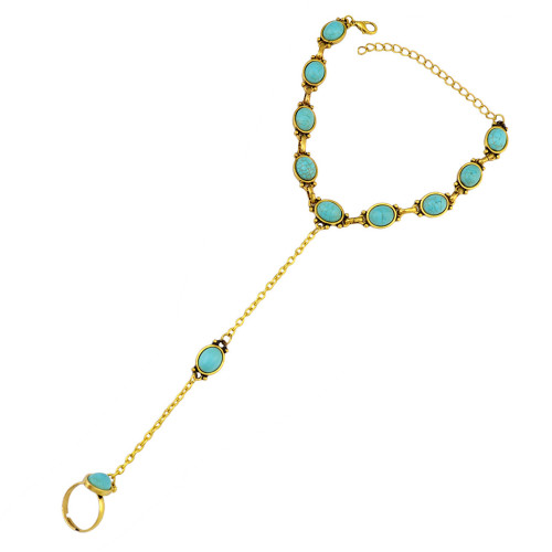 B-0788 Fashion Summer Simple Design  Beach Anklet Gold Silver Plated  with Resin Beads Anklets for Girl's Barefoot Anklets