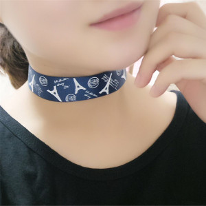 N-6429 3 colors Popular to the European and American Fashion Style Nylon Rope Short  Statement Choker Necklace for Women Jewelry