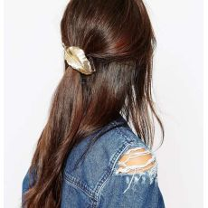 F-0331 Fashion Women  Charm Gold /Silver Plated Leaf Shape Black Hairband Accessories Jewelry