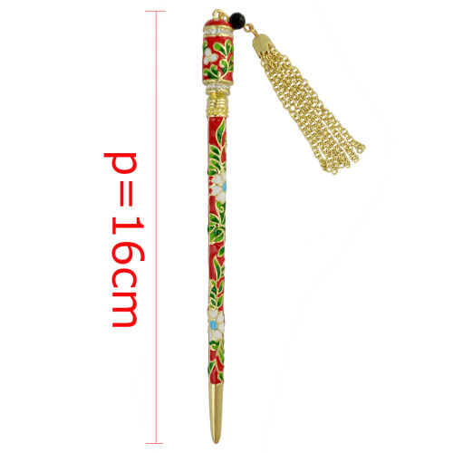 F-0362 New Fashion Design Gold Plated Alloy Exquisite Delicate Crystal Rhinestone Head Piece Tassel Chain Hairpin Women Girl Hair Jewelry