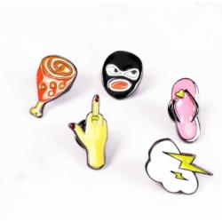P-0338 Christmas Gift 9 style Candy-colored Cartoon Images Brooch pin Accessories