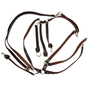 N-6480-BK * Vintage style Leather body harness long Body Chain Jewelry underwear for Sexy Girls Multilayer Chain Body Jewelry