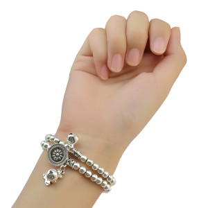 B-0812 Bohemian Fashion Punk Style Silver Plated Alloy Can be Adjustable Women &Men Cuff Bangle Bracelets Jewelry