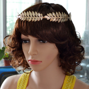 F-0369 Fashion Silver/Gold Plated Leaf Shape Hair Jewelry for Girl Hair Accessories