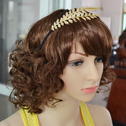 F-0368 bohemian vintage style silver & gold plated leaves hairwear fashion headband for women jewelry