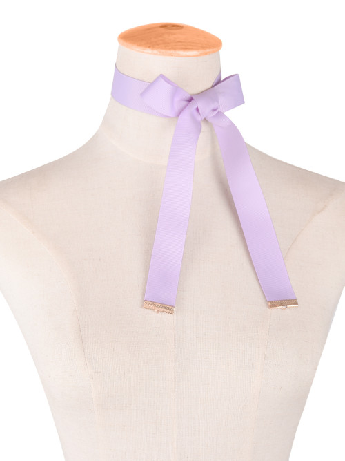 N-6477 New Design Popular 4 Colors Nylon Rope Long Necklace Bowknot choker necklace for women jewelry
